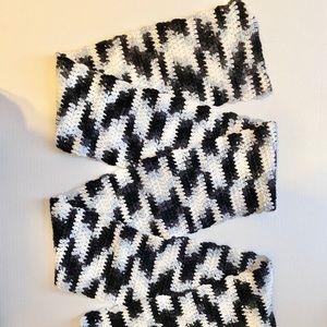 5/$25 Handmade Zebra Black Gray and White Scarf